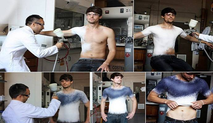 nanoteknologi dengan-Spray-On-Clothing