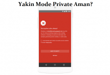Incognito dan Mode Private Aman?
